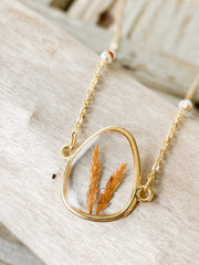 "18"" Framed Triangle Pendant Necklace - Sedge"