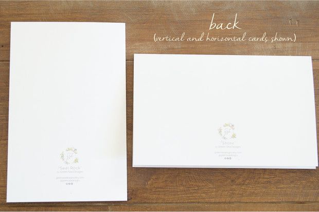 Blank Greeting Card Set - Set of Two