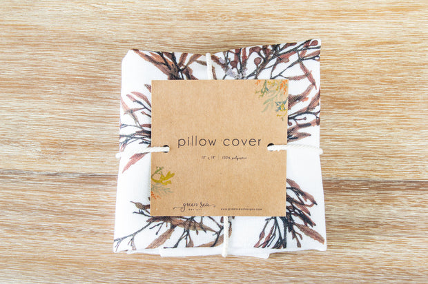 "Square Pillow Cover - ""Ebb"""