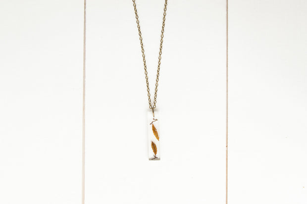 "30"" Long Rectangle Pendant Necklace - Sargassum"
