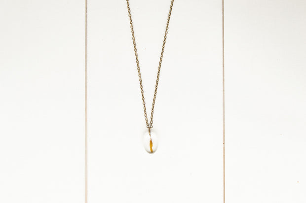 "30"" Frameless Oval Pendant Necklace"