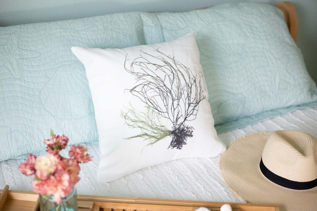 "Square Pillow Cover - ""Seaspray"""