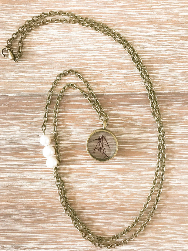 "30"" Circle Pendant Necklace - Agardhiella"