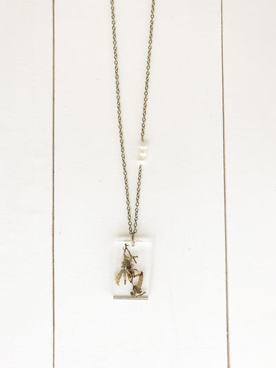 "30"" Frameless Rectangle Pendant Necklace"