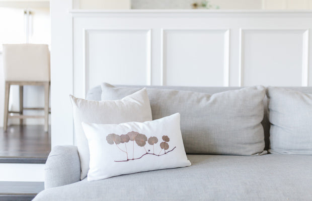 "Lumbar Pillow Cover - ""Shore"""