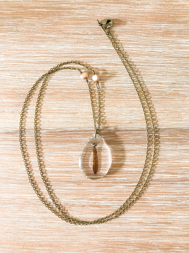 "26"" Frameless Teardrop Dainty Pendant Necklace"