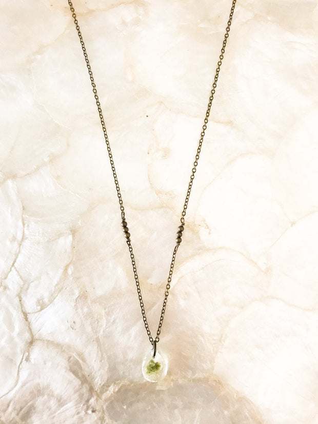 "18"" Frameless Teardrop Dainty Pendant Necklace"