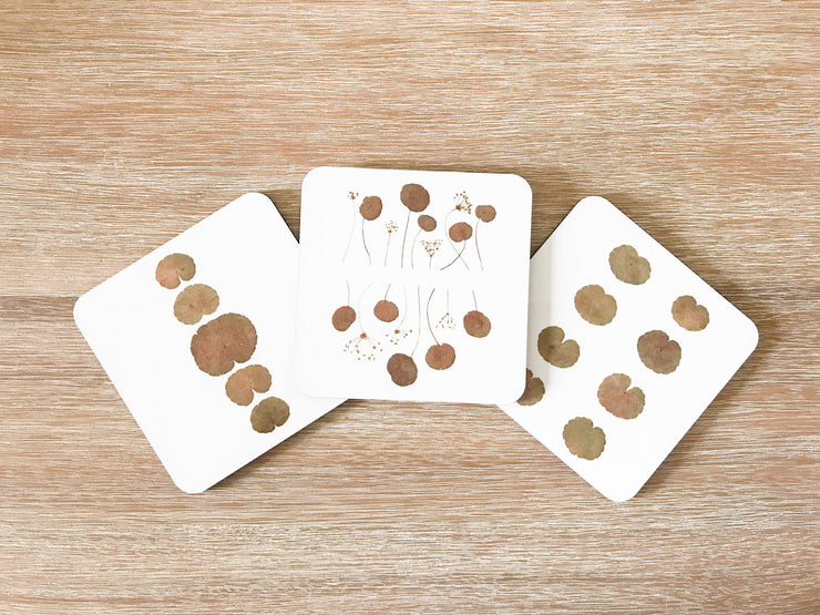 Set of 3 Square Cork-backed Coasters
