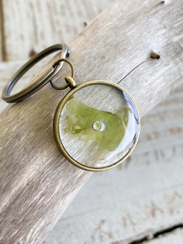 Brass Circle Resin Keychain - Ulva