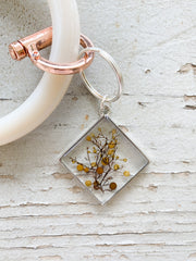 Silver Diamond Resin Keychain - Sargassum