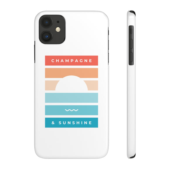 Beach - Case Mate Slim Phone Case - Bubbles Make Me Happy