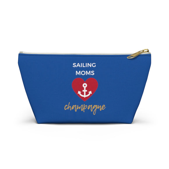 Sailing - Accessory Pouch w T-bottom - Bubbles Make Me Happy