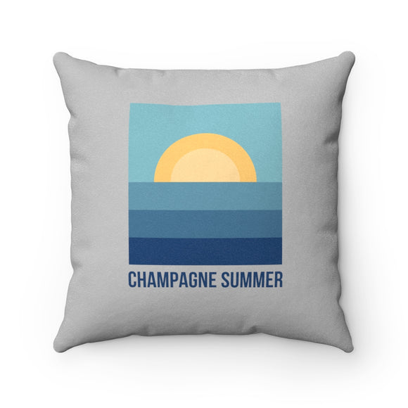 Summer - Faux Suede Square Pillow - Bubbles Make Me Happy
