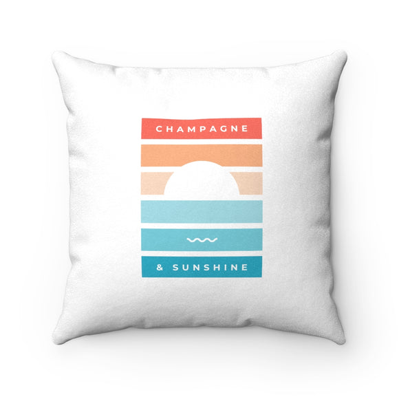 Beach - Faux Suede Square Pillow - Bubbles Make Me Happy