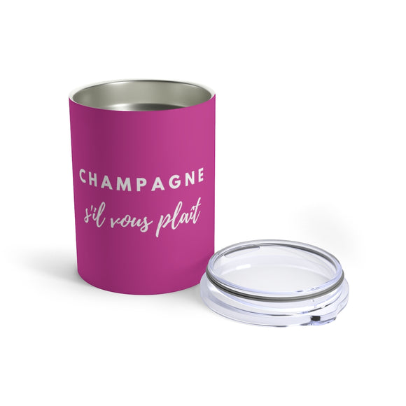 S'il Vous Plaît - Violet Tumbler 10oz - Bubbles Make Me Happy