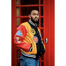 Load image into Gallery viewer, GCN Letterman Jacket wht/blk