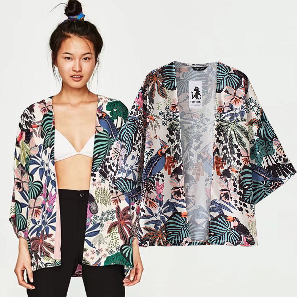 Monstera Chiffon Shirt