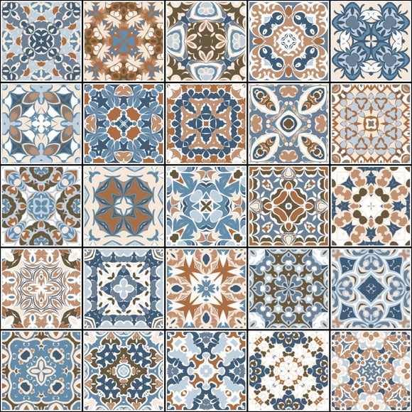 Amalfi Tile Stickers - row stickers