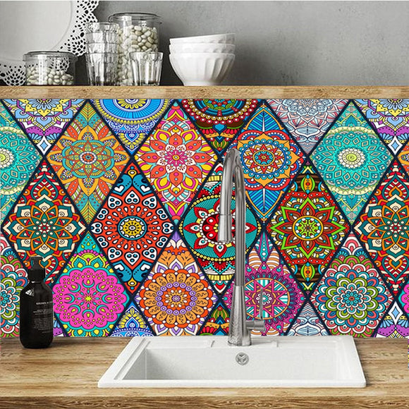 Venedig Triangle Tile Wall Stickers - 1 row/set