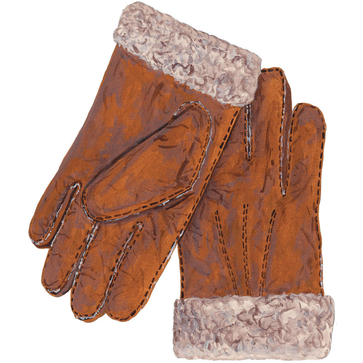 Curly Lambskin Gloves