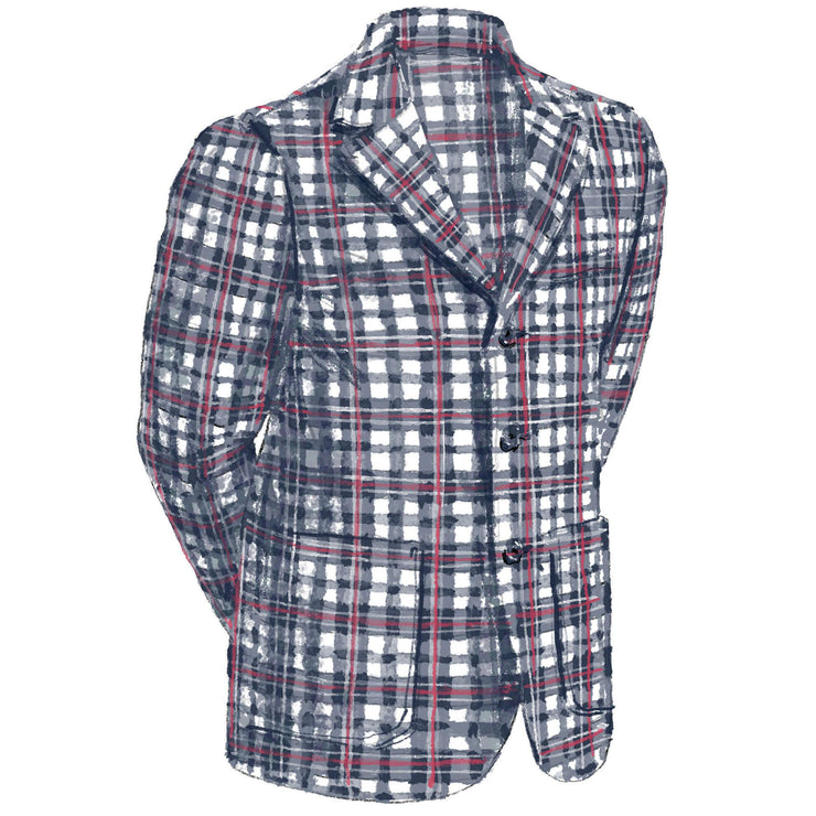 Men's Plaid Seersucker Jacket