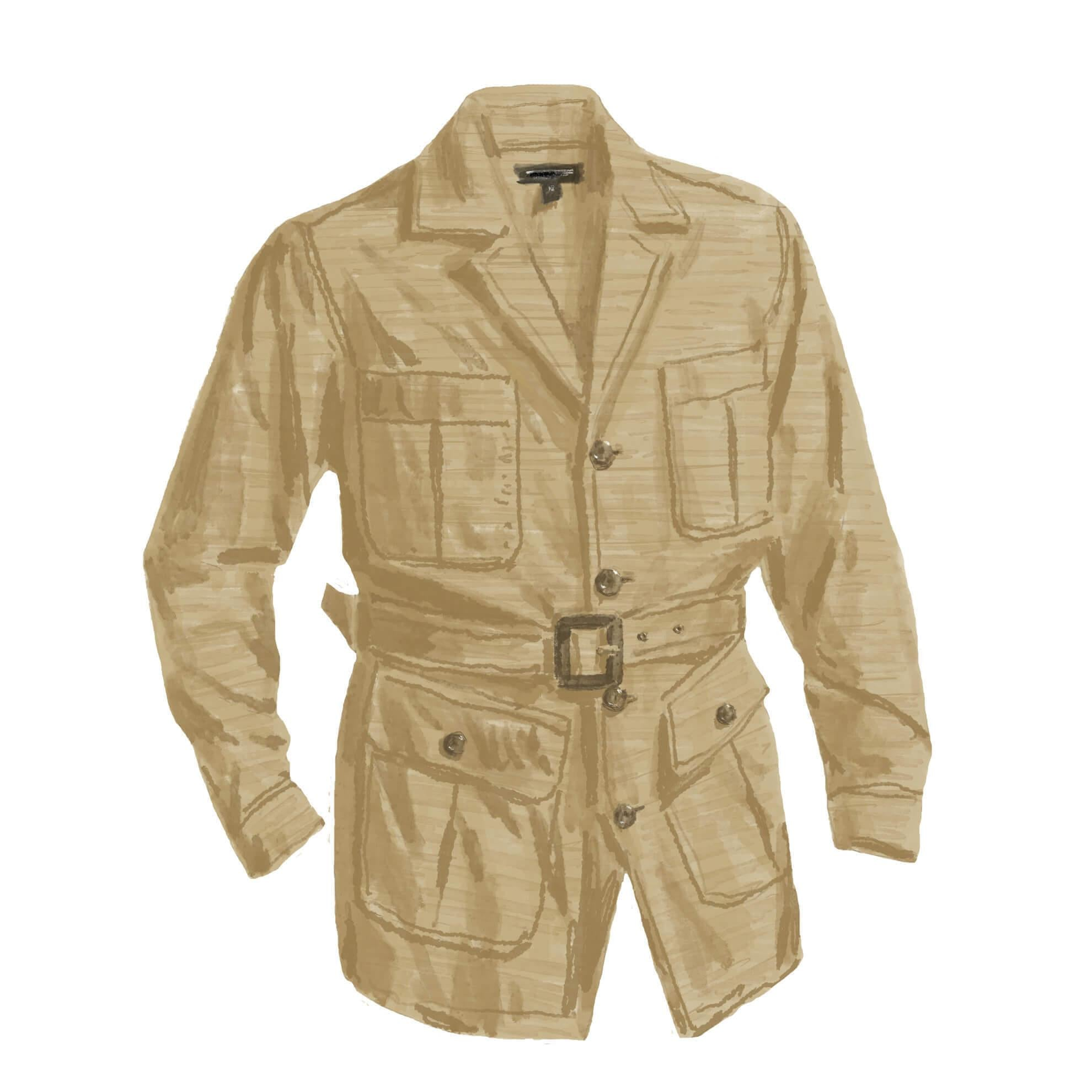 Panama Cloth Safari Jacket