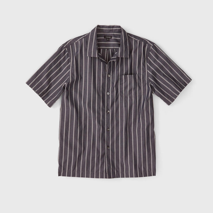 Striped Camp Collar Shirt