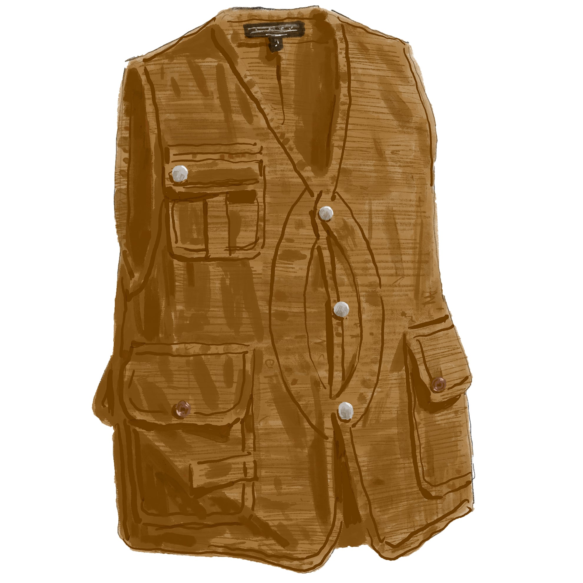Canvas Fly Fishing Vest