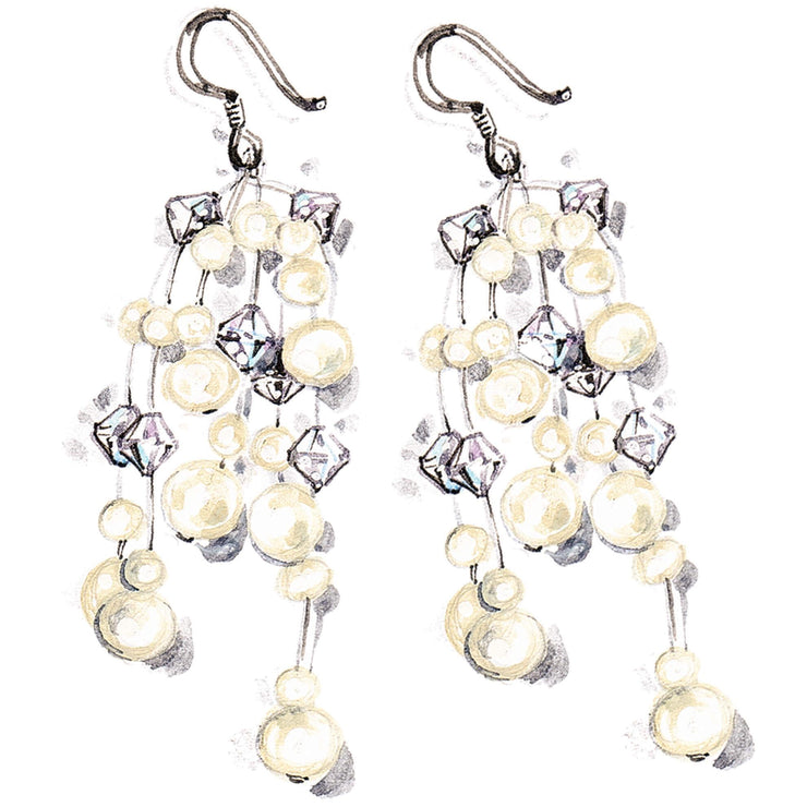 Matching Pearl Earrings