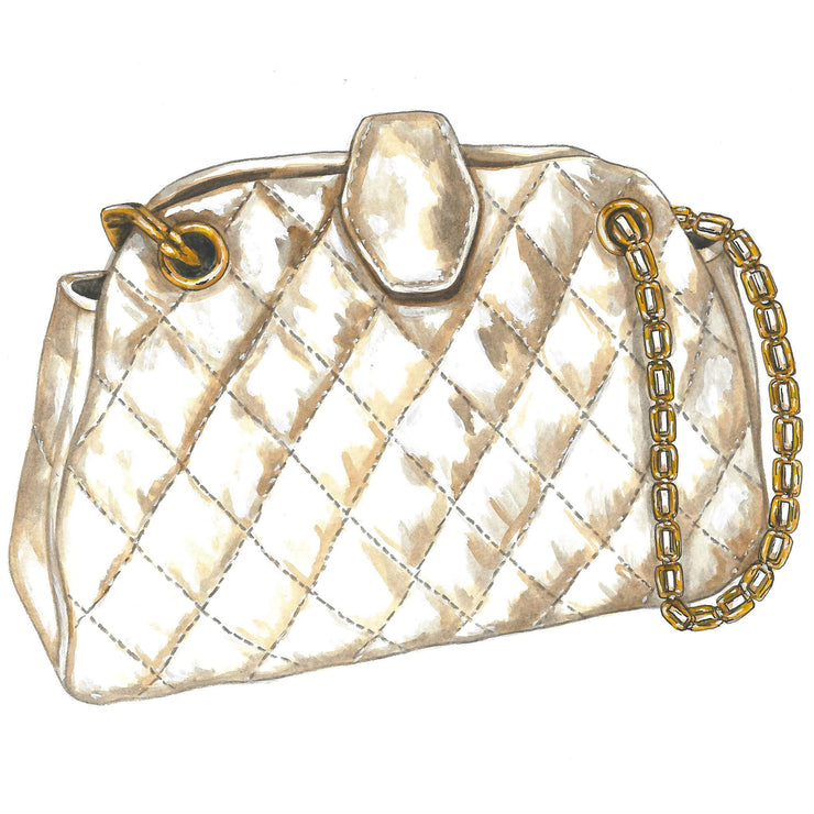 Quilted Italian Leather Bag