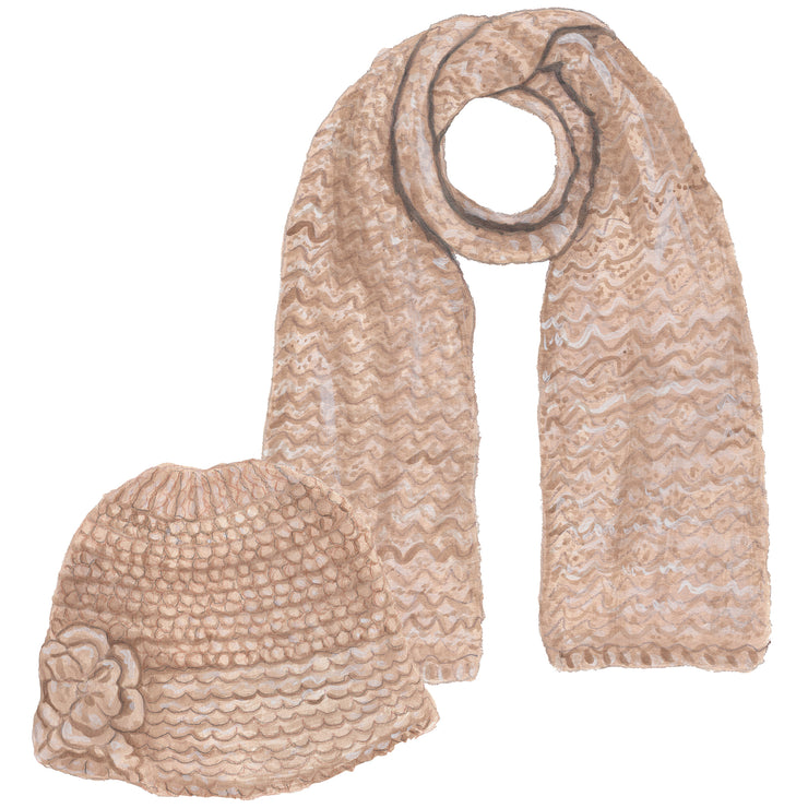 Knit Hat & Scarf Set