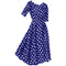 1940s Polka Dot Swing Dress