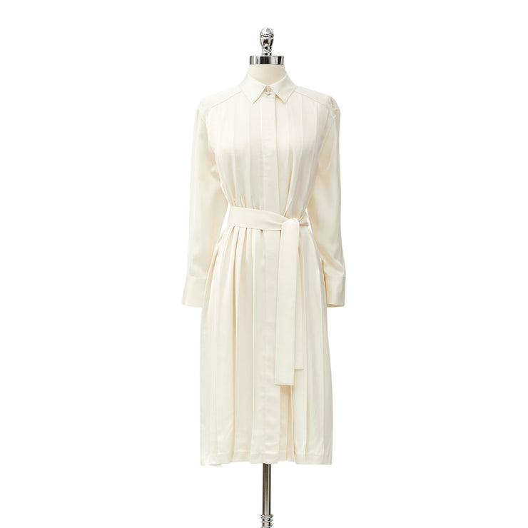 Bon Voyage Pleated Shirtdress