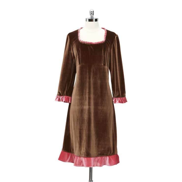 Velvet Babydoll Dress