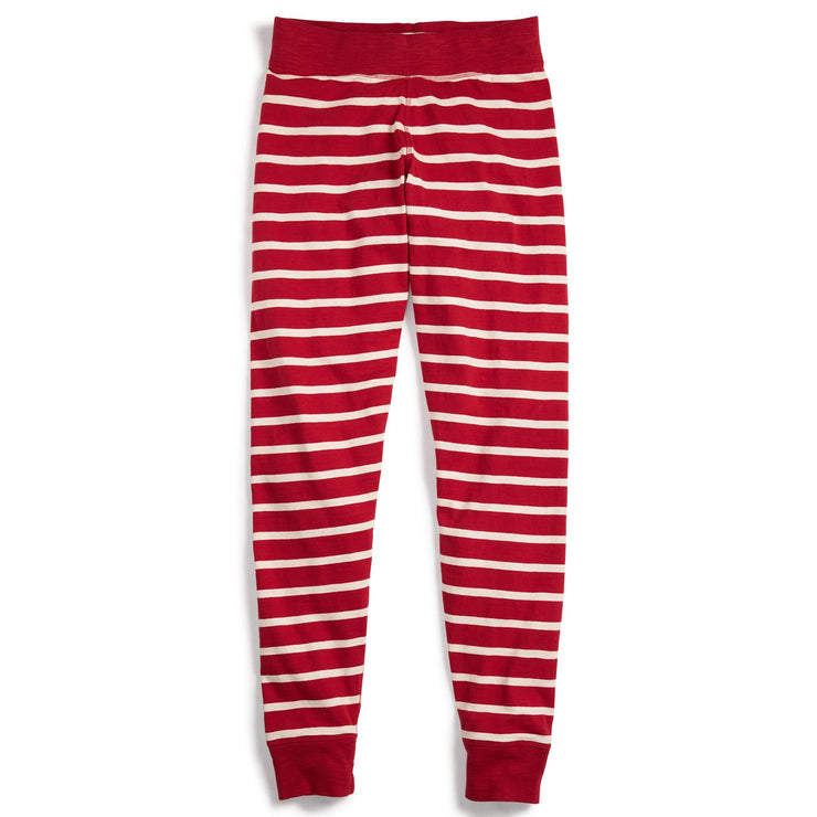 Striped PJ Pants Red Cream Medium
