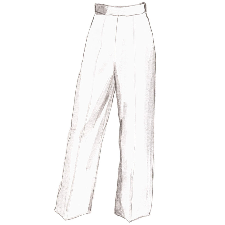 Highwaisted Wide Leg Trouser