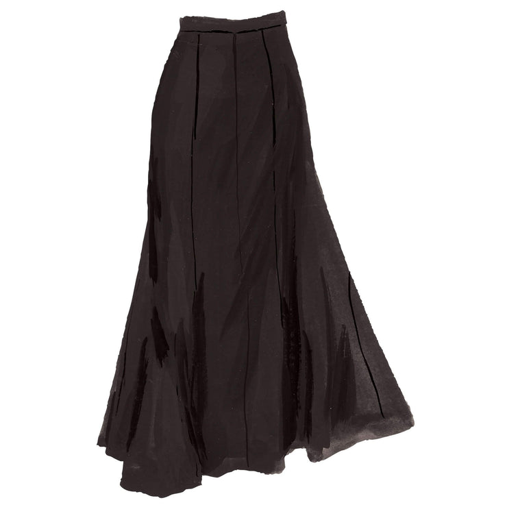 English-Style Trumpet Skirt