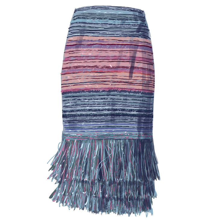 Star Lady Fringe Hem Skirt