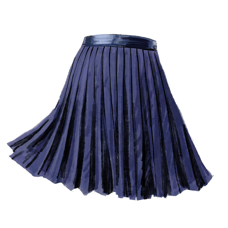 1920s Pleated Tennis Skirt