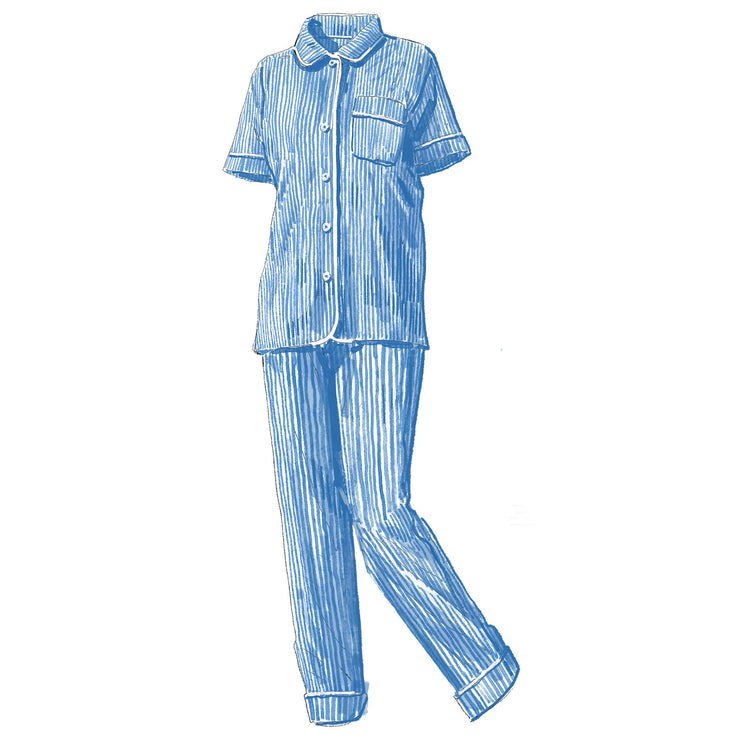 Striped Poplin PJ Shirt