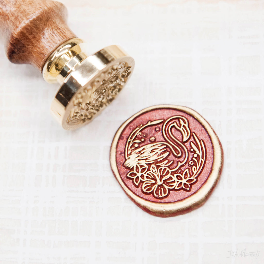 Flamingo /original vintage wax seal stamp