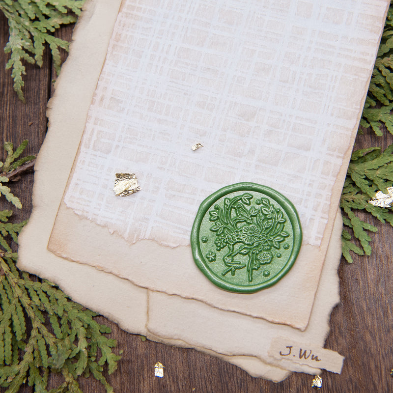 "Big 1.2"" Deer Floral Crown Wax Seal Stamp, Large Size Bullet Journal Stamp - Original Design deer head"