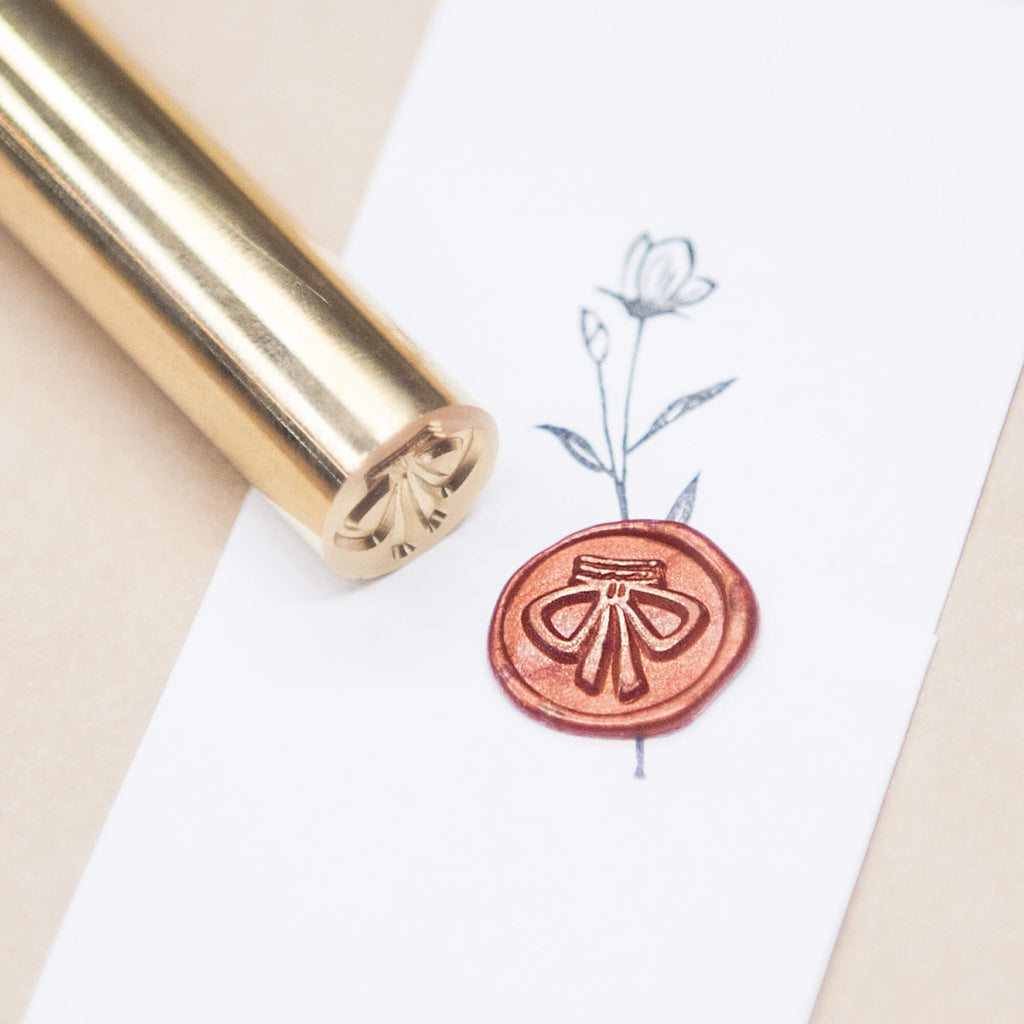 "Mini Bow Knot Wax Seal Stamp 1/2"", Original Design"
