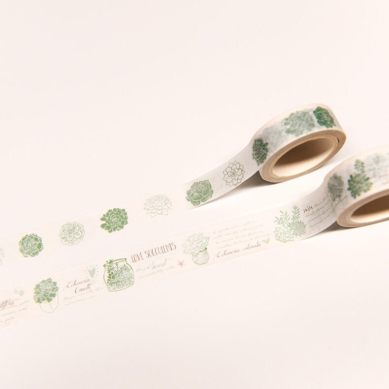 Original cute succulent washi tape/ Exclusive Design