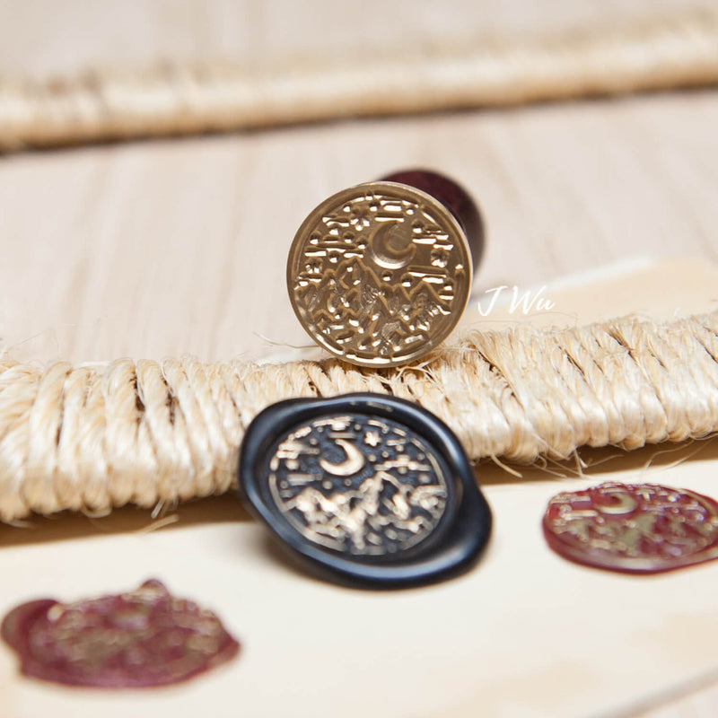 Mountain Range Original wax seal stamp/ love travel