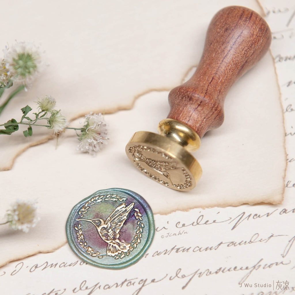 Hummingbird original vintage wax seal stamp