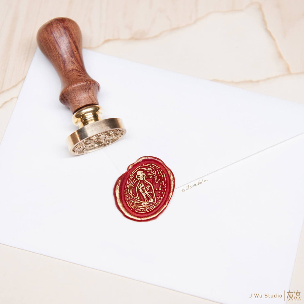 Message in a bottle original vintage wax seal stamp