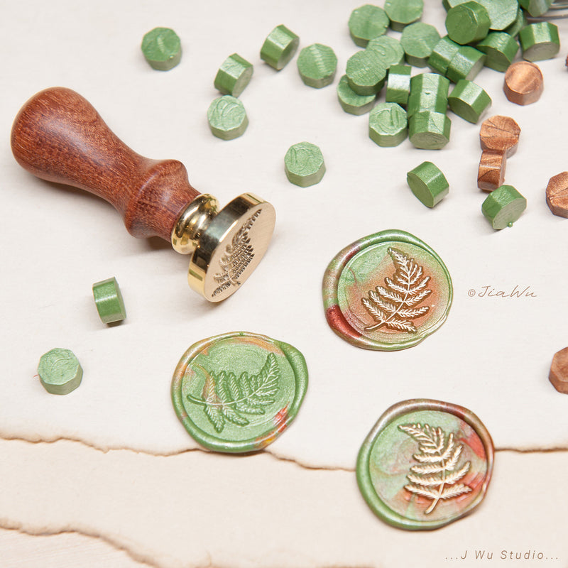 Fern original vintage wax seal stamp