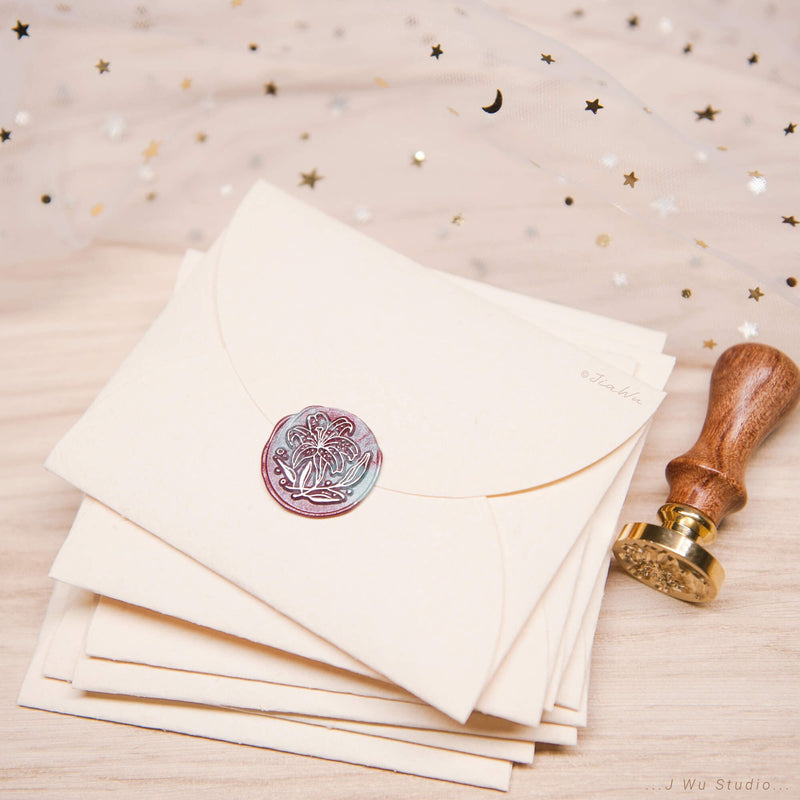 Lilium /original vintage wax seal stamp
