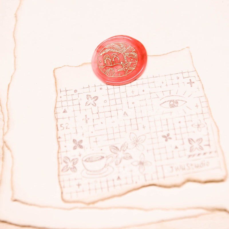 Seaside Trip /original vintage wax seal stamp